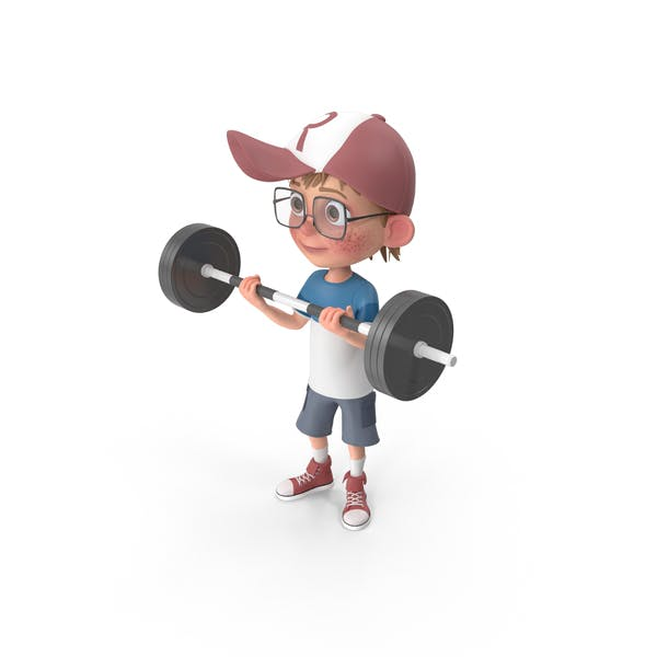 Thumbnail for Cartoon Boy Harry Lifting Barbell