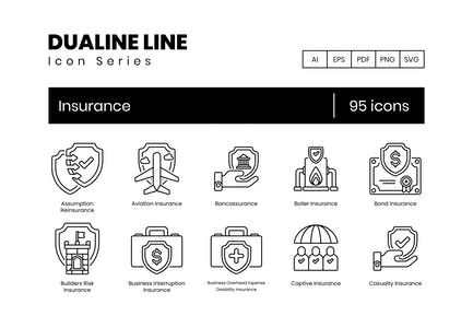 95 Insurance Line Icons