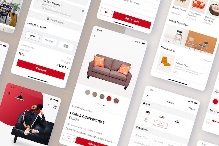 Thumbnail for Furniture conceptual App template