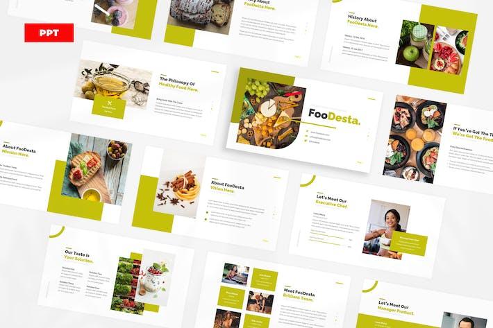 FooDesta Healthy Food - PowerPoint UP