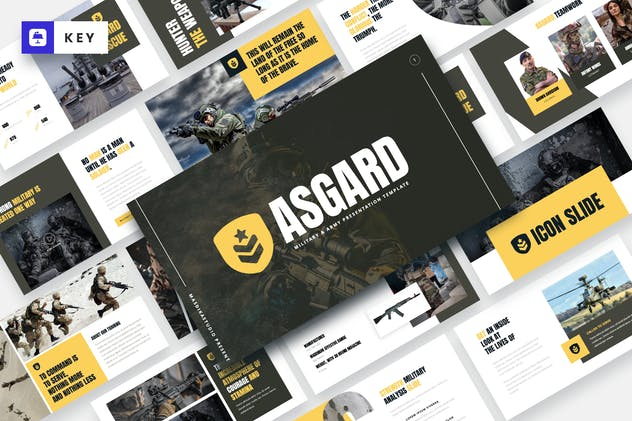 ASGARD - Military & Army Keynote Template - product preview 5