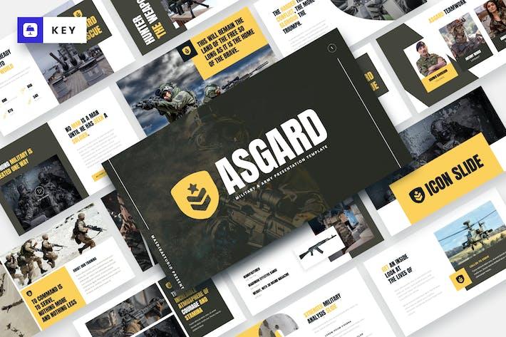 Thumbnail for ASGARD - Military & Army Keynote Template