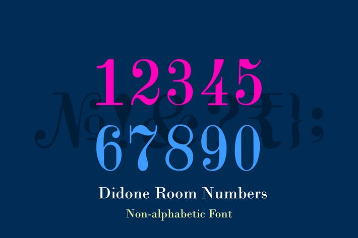 Thumbnail for Didone Room Numbers Display Font Family