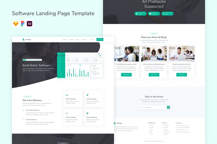 Thumbnail for Software Landing Page Template