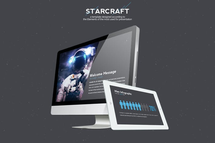 Thumbnail for Starcraft Keynote Template