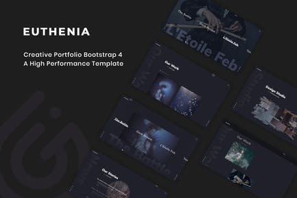 Euthenia - Creative Portfolio Bootstrap 4 Vorlage