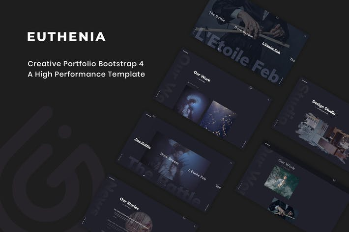 Cover Image For Euthenia - Creative Portfolio Bootstrap 4 Template