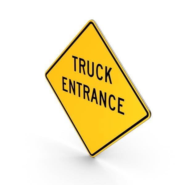 Truck Entrance Road Sign