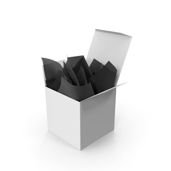 Thumbnail for Квадратная упаковка с черной подарочной бумагой