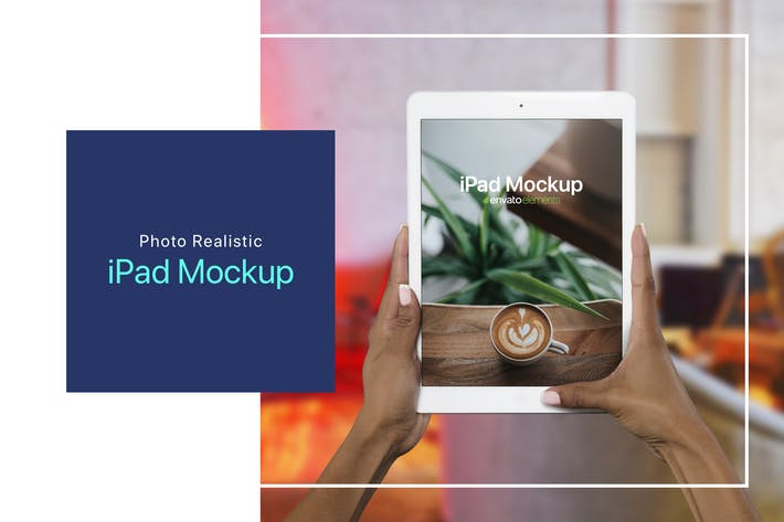 Thumbnail for iPad on Hand Photoshop Mockup - v.2