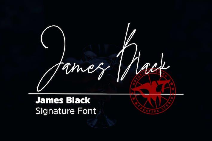 Thumbnail for James Black Signature Font