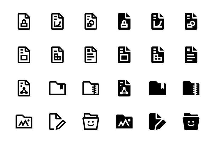 Thumbnail for 46 Files and Folders Icons