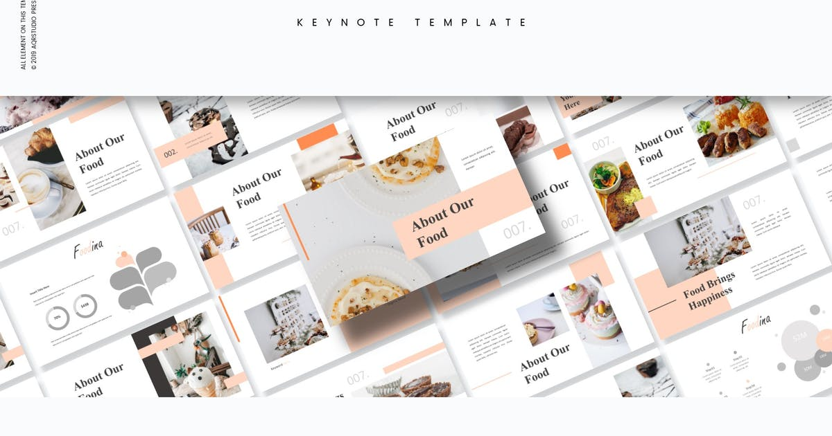 Download Foodina - Keynote Template by aqrstudio