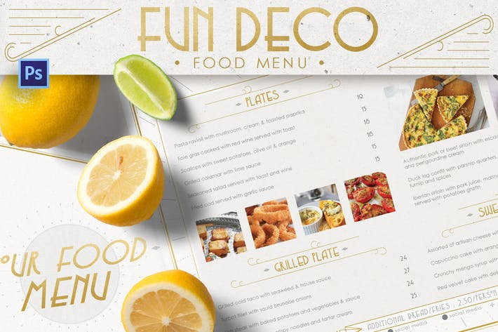 Thumbnail for Fun Deco Food Menu