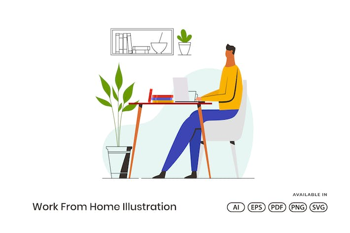 Thumbnail for Work From Home Illustration