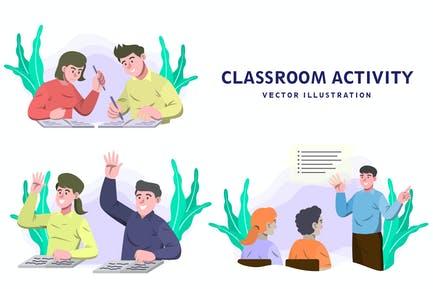 Classroom - Activity Vector Illustration
