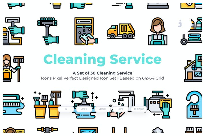 Thumbnail for 30 Cleaning Service Icons