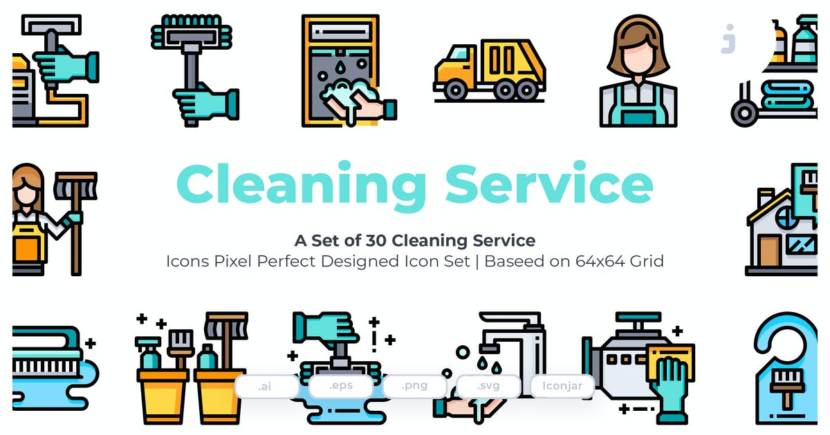 Download 30 Cleaning Service Icons by Justicon