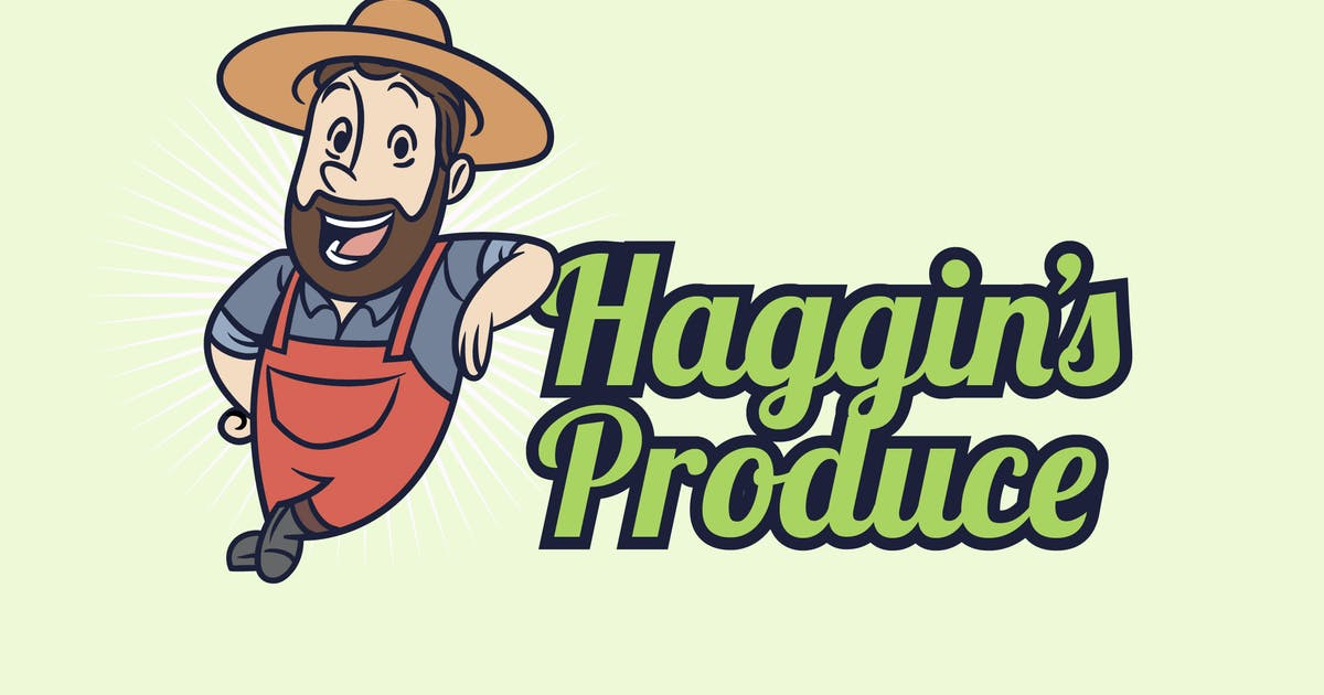 Download Retro Vintage Farmer Mascot Logo by Suhandi