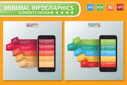 Mobile phone Infographics Design