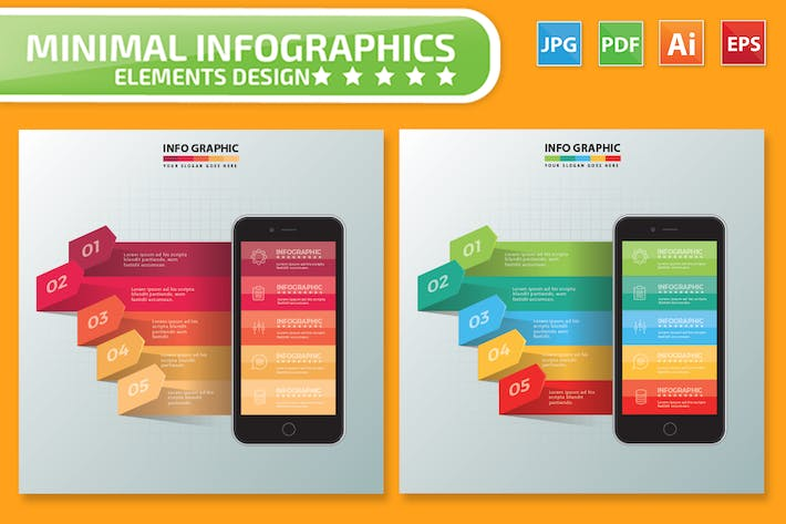 Thumbnail for Mobile phone Infographics Design