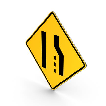 Straßenschild rechte Spurenenden