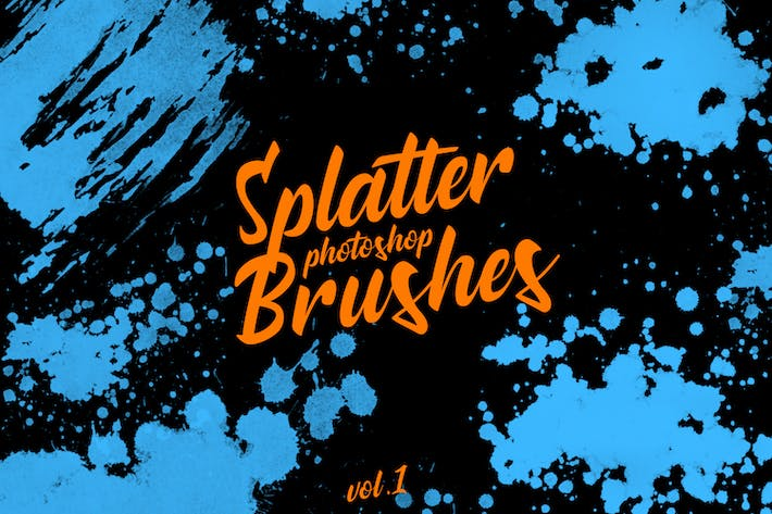 Thumbnail for Splatter Stamp Photoshop Brushes Vol. 1