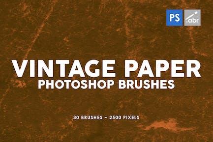 30 Pinceles para Photoshop de papel Vintage Vol.2