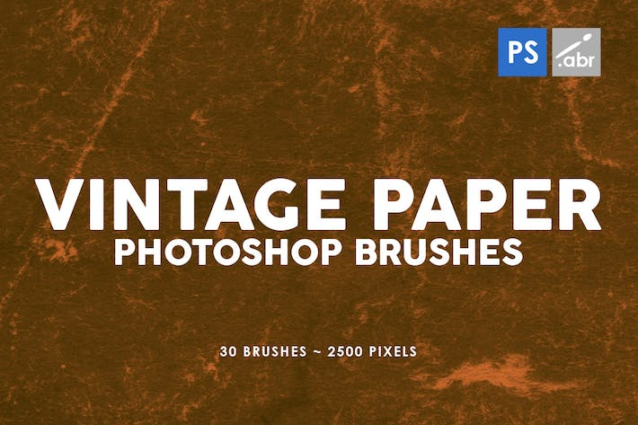 Thumbnail for 30 Vintage Paper Photoshop Stamp Brushes Vol.2