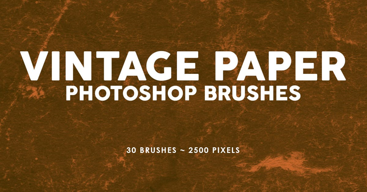 Download 30 Vintage Paper Photoshop Stamp Brushes Vol.2 by M-e-f