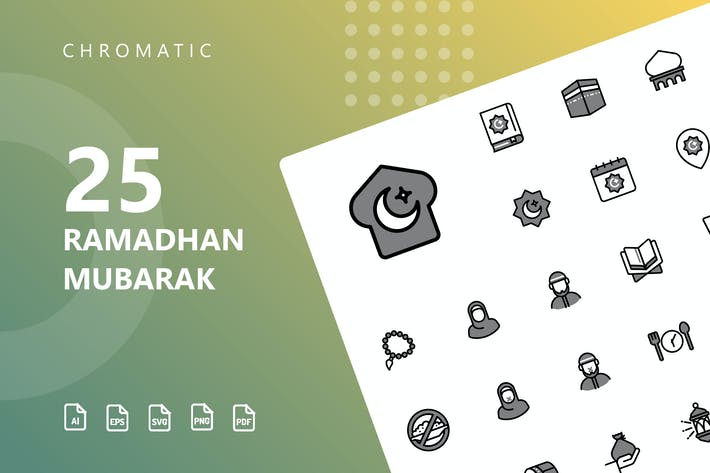 Thumbnail for Ramadhan Mubarak Chromatic Icons