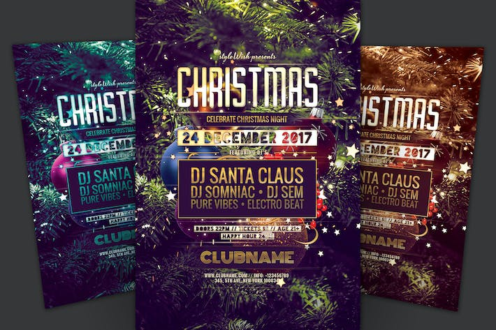 Festive Christmas Flyer Template