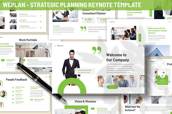 Thumbnail for Weplan - Strategic Planning Keynote Template