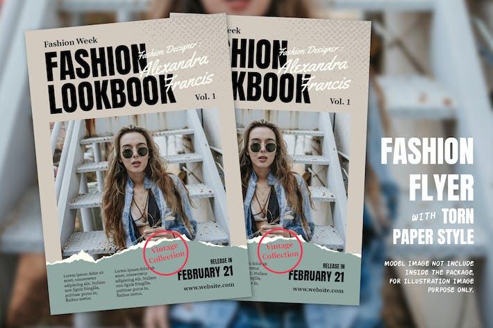 Thumbnail for Fashion Flyer style papier déchiré
