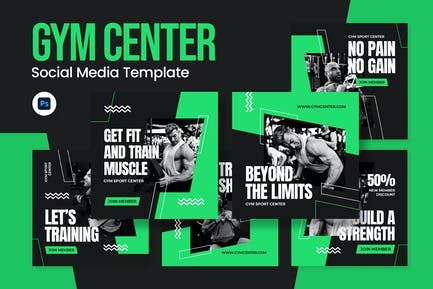 Sport Gym Instagram Post