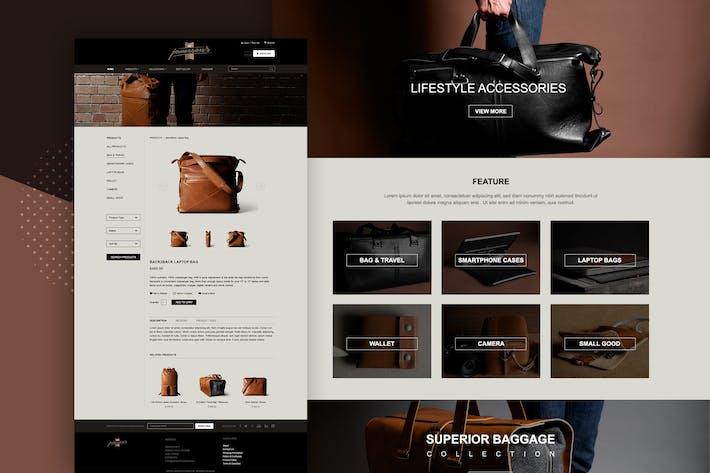 Thumbnail for Retail - Concepto de diseño de interfaz de usuario web