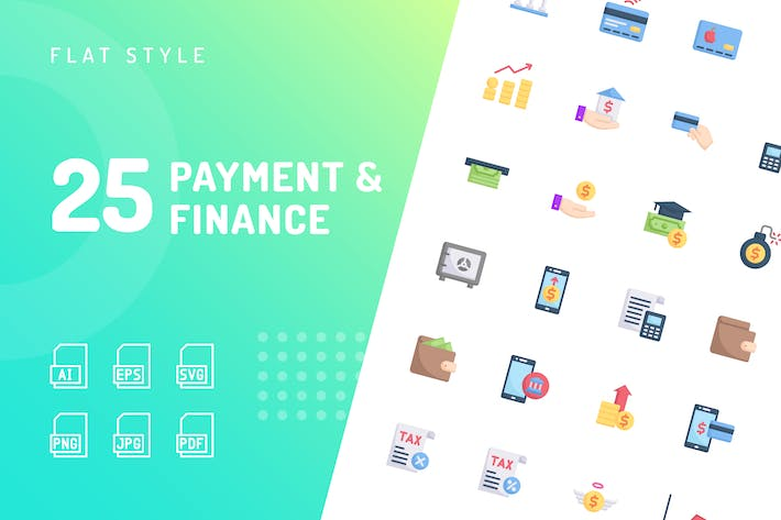 Thumbnail for Payment & Finance Flat Icons