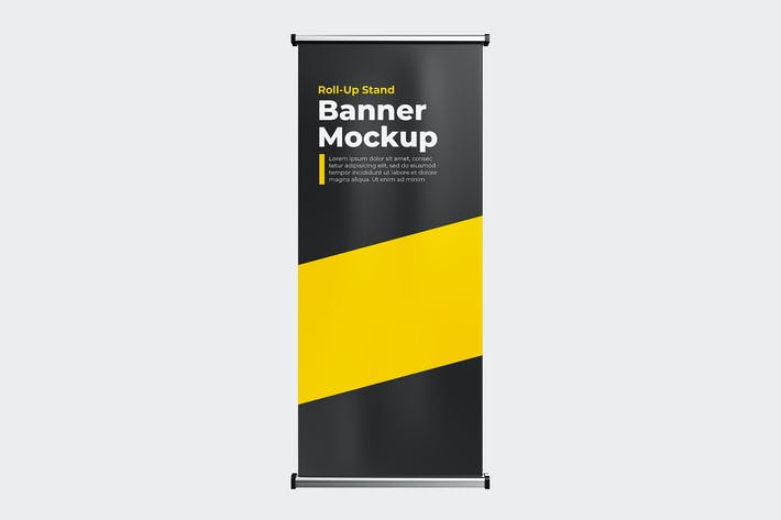 Thumbnail for Roll-up stand banner mock-up template