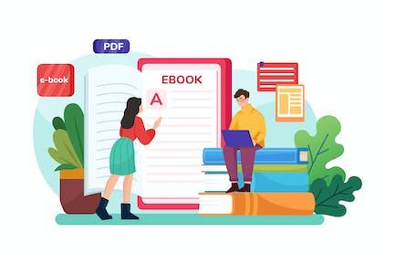 Ebook Illustration Concept