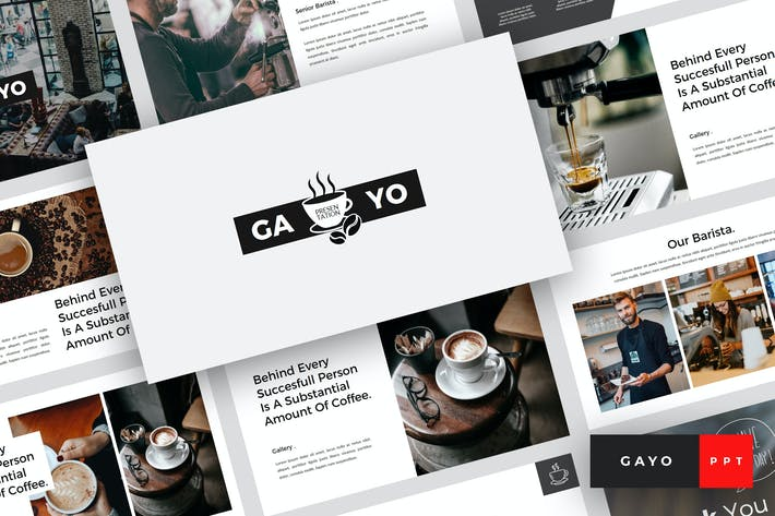 Thumbnail for Gayo - Coffee Shop PowerPoint Template