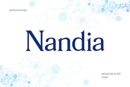 Nandi Modern Serif Font