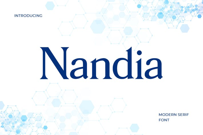 Thumbnail for Nandi Modern Serif Font