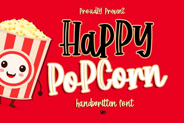 Thumbnail for Happy Popcorn - Police manuscrite