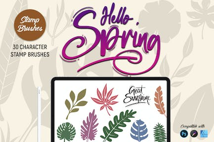 Hello Spring | Stamp Brushes