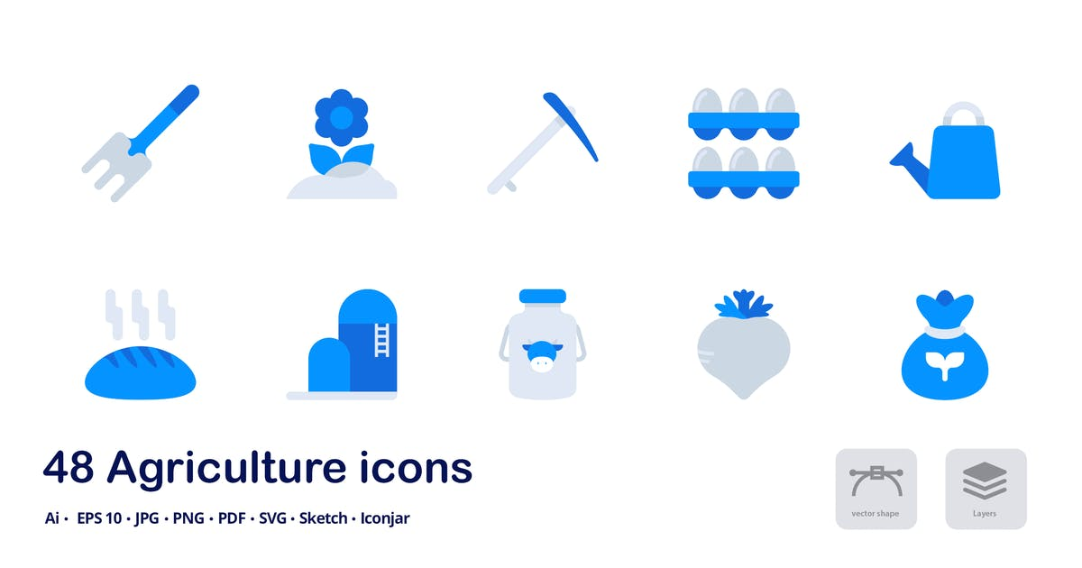 Download Agriculture Accent Duo Tone Flat Icons by roundicons