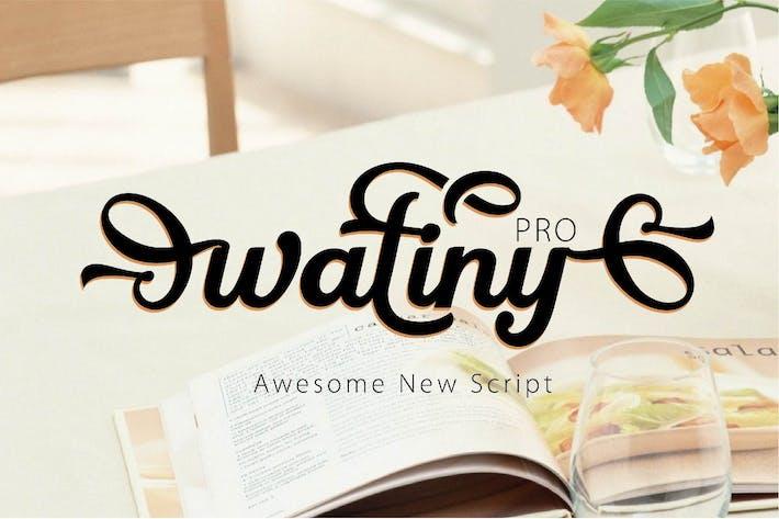 Thumbnail for WATINY - SCRIPT FONT