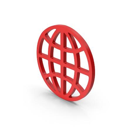 Символ паутина красный