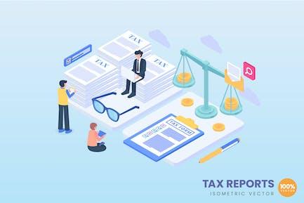 Tax Reports Concept Illustration
