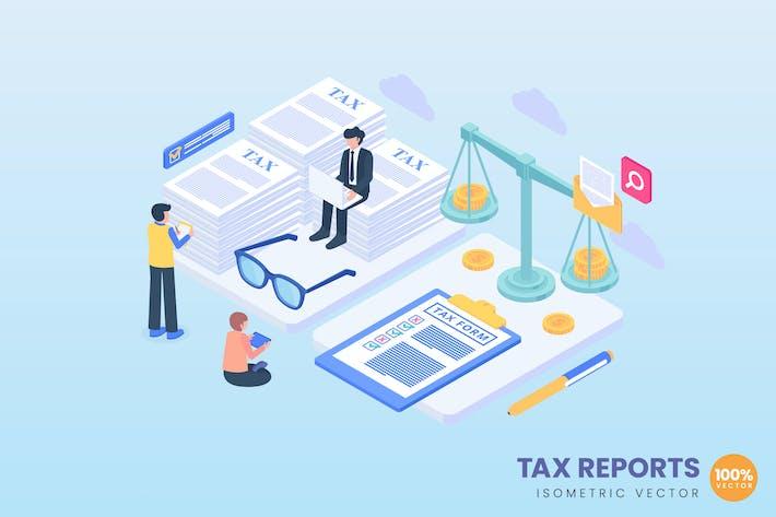 Иллюстрация концепции налоговых отчетов
