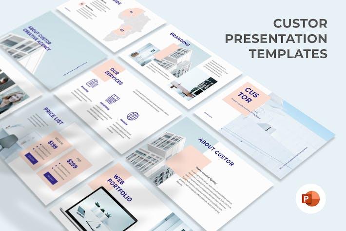 Thumbnail for Custor - Creative Agency Presentation Template
